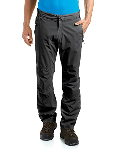 maier sports Herren Outdoor Überhose Wasserdicht Raindrop M Black, 50