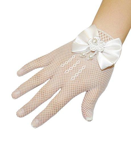 4-14 Jahre Mädchen Handschuhe(Creme)