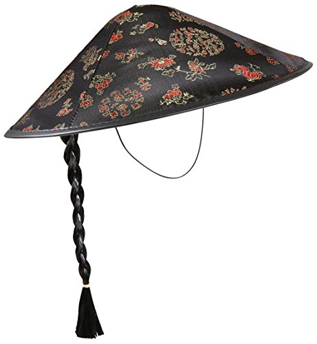 WIDMANN Chinamanischer Satin mit Zopfmuster, orientalische Hüte und Kopfbedeckung für Kostüme - Chinese