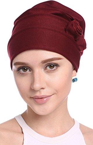 YI HENG MEI Frauen Elegant Strench Side Blume gefaltet Muslim Turban Chemo Krebs...