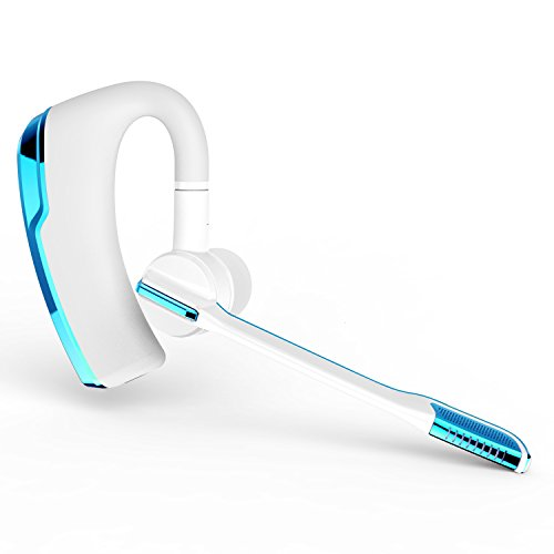 Bluetooth Headset, Ztotop Freisprechen Wireless Bluetooth Kopfhörer Sweatproof Noise Cancelling In-Ear-Ohrhörer für Business / Sport / Fahren Bluetooth Kopfhörer mit Mikrofon für Apple iPhone Samsung Android PC Laptop (Blau)