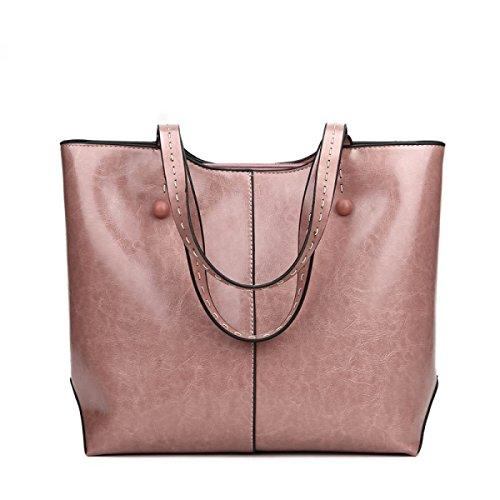 DHFUD Damen Schultertasche Schultertasche Tragetaschen Mode Vintage Einfach Pink