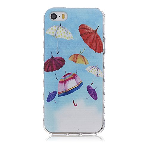 uzzo iPod Touch 6/5Fall mit Fashion Art Muster, Crystal Clear Ultra Dünn TPU Case Transparent Skin Bumper Silikon Back Case Cover für iPod Touch 56. Generation (Schmetterling weiß) A20 Ipod Touch Skin Fällen