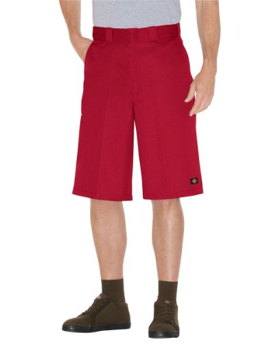 Dickies Herren Hosen / Shorts 13 Multi-Use Pocket Work rot W 48 - Dickies Multi-use Pocket
