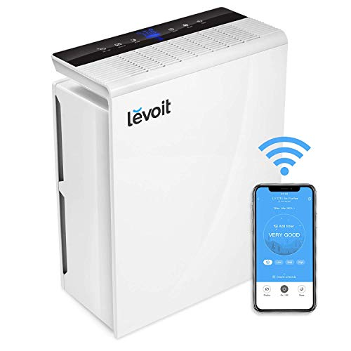 Levoit Purificador de Aire WiFi Inteligente con Filtro HEPA, Hasta 55 m², Temporizador,...