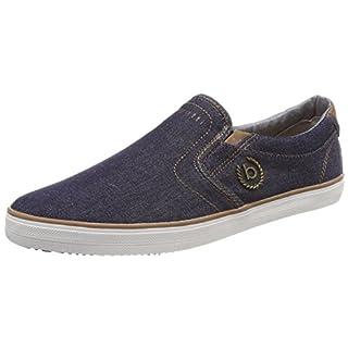 Bugatti Herren 321502646900 Slip on Sneaker, Blau (Dark Blue), 43 EU