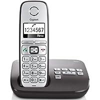 Gigaset E310A Telefon - Schnurlostelefon / Mobilteil - Grafik Display - Grosse Tasten Telefon - Anrufbeantworter -  Freisprechfunktion - Analog Telefon - schwarz