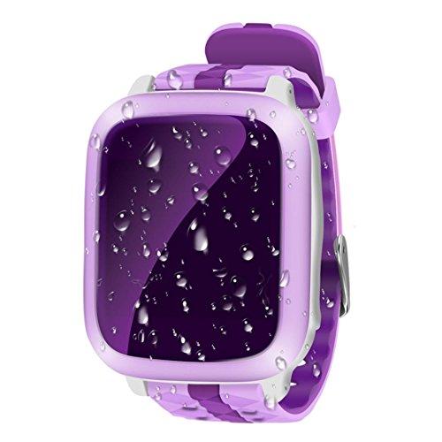 Leydee Smart Watch Anti-Drop Wasserdichtes Kind Smartwatch Telefon mit 1,44 Zoll Bildschirm Babyuhr SIM Karte SOS Anruf GPS Tracker Anti-verlorener Monitor für Kinder , pink