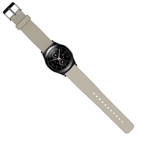 Preisvergleich Produktbild OKCS Armband für Samsung Gear S2 Classic Uhrband Ersatzarmband Band Wrist Strap - in Hellgrau