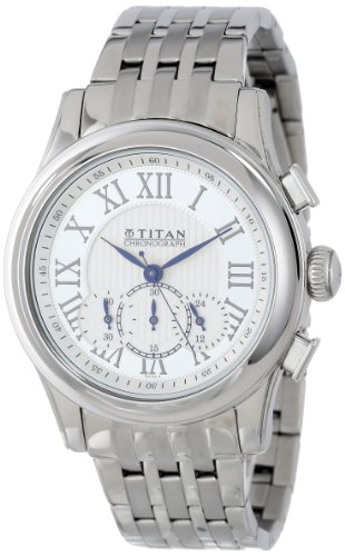 411pJsNOmVL - Titan NC1562SM01 Orion Silver Mens watch