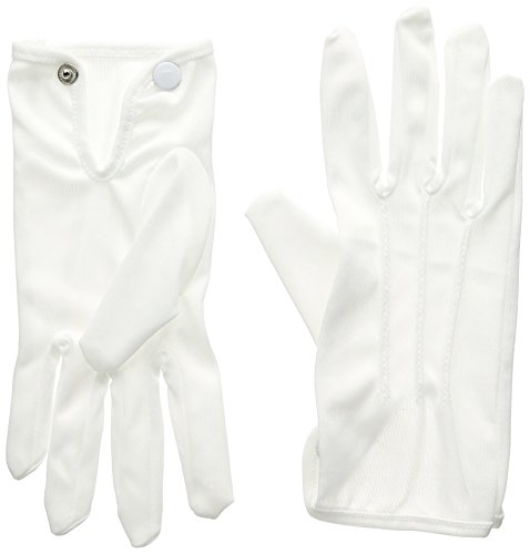 - Deluxe White Polyester Handschuhe