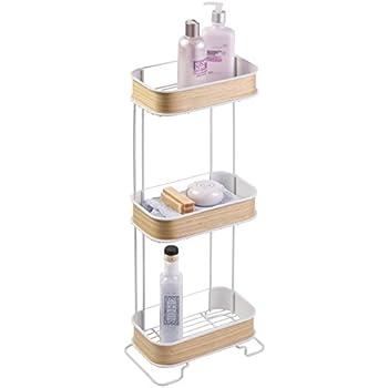 mdesign serviteur de douche suspendre de 3 paniers installation de l 39 tag re de douche sans. Black Bedroom Furniture Sets. Home Design Ideas
