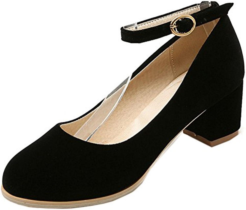 51377219be72 COOLCEPT Women s Elegant Buckle Straps Straps Straps Block Heel Court Shoes  B01NH10BLG Parent f7825a