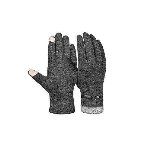 GOODBUY Touchscreen Handschuhe Damen, Winter Handschuhe für Fahrrad Mountainbike (Grau 2)