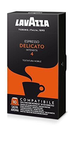 Lavazza Capsule Compatibili Nespresso Espresso Delicato (Intensita 4) - 10 Confezioni da 10 capsule [100 capsule]