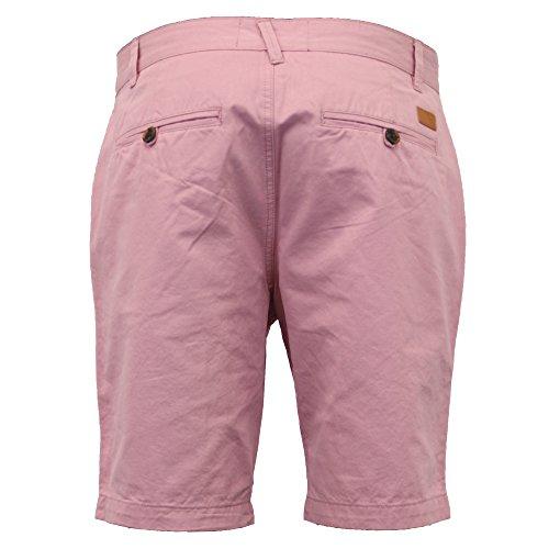 Herren Baumwolle Oxford Knie Lang Sommer Lässige Chino Shorts By Threadbare Pink - 087