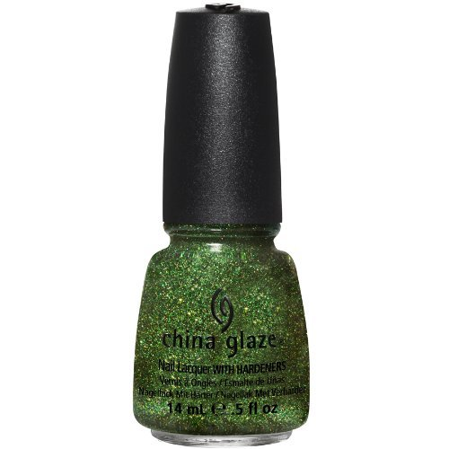 China Glaze Nail Lacquer with Hardner - 3D Glitter Effect - Winter Holly, 1er Pack (1 x 14 ml) Winter Holly