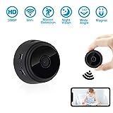 Mini WiFi Kamera, UYIKOO 1080P Mini KameraTragbare Kleine Kamera 140 Grad Überwachungskamera Nanny Cam mit Nachtsicht und Bewegungserkennung für iPhone/Android/iPad /(Unterstützung 128G SD-Karte)