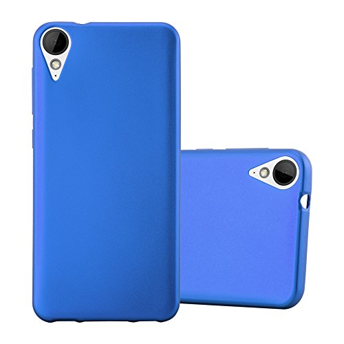 Cadorabo Hülle für HTC 10 Lifestyle/Desire 825 - Hülle in METALLIC BLAU - Handyhülle aus TPU Silikon im Matt Metallic Design - Silikonhülle Schutzhülle Ultra Slim Soft Back Cover Case Bumper