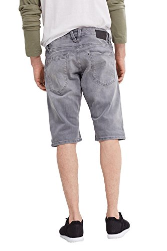 edc by ESPRIT Herren Shorts Grau (Grey Light Wash 923)