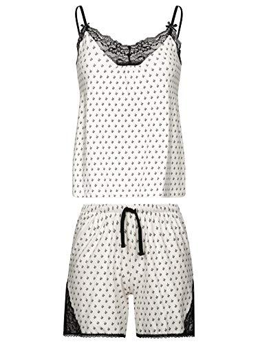 Vive Maria La Fillette Au Lit Short Pyjama Cream Allover, Größe:M -