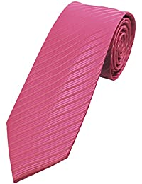 """COLLAR AND CUFFS LONDON - HIGH QUALITY Handmade Tie - Striped - Pink and White Stripe """"Helter Skelter"""" Stripes"""