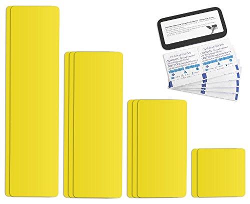 Selbstklebende Planenreparatur Tapes | 10 teilig | Easy Patch Comfort 100mm | Für Zelte, Planen uvm. | Zinkgelb RAL 1018