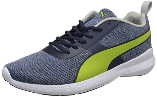Puma Men's Styx Evo Idp Peacoat-Nrgy Yellow-Gray Violet Sneakers - 9 UK/India (43 EU)(36777004)