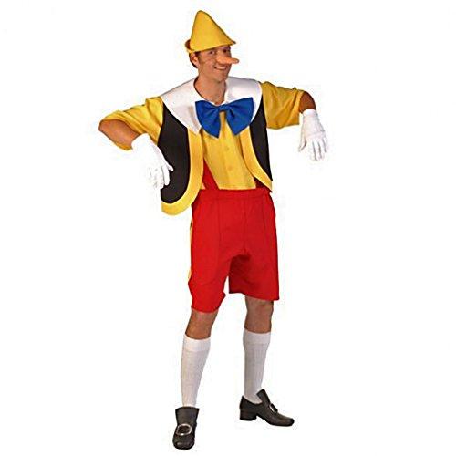 Pinocchio Kostüm Holzpuppe Fasching Lügner lange Nase Märchen ()