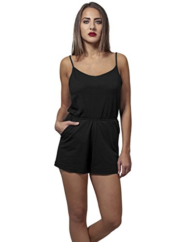 Urban Classics Damen Jumpsuit Ladies Short Spaghetti, Schwarz (Black 7), Medium - 3