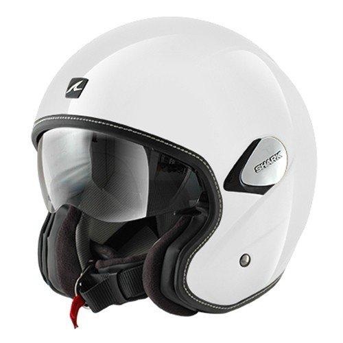 Preisvergleich Produktbild HE7900WHUXL - Shark Heritage Blank Motorcycle Helmet XL White (WHU)