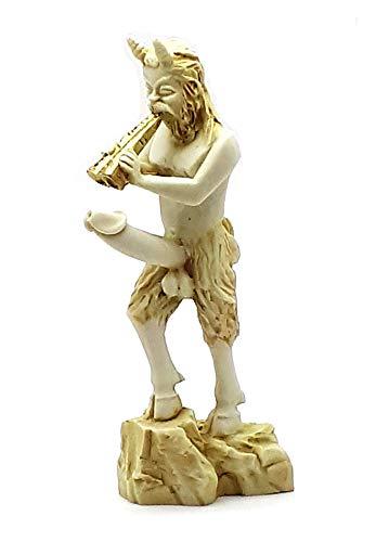 Pfanne griechischen Nude Gott der Natur Faun Gemeine Penis Alabaster Statue Skulptur 7& # X384; & # X384;