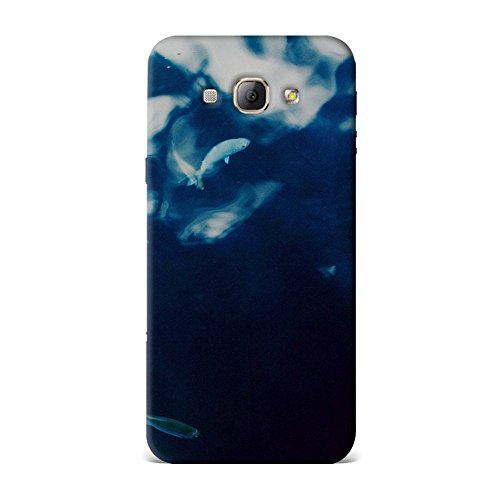 Samsung A8 Case, Samsung A8 Hard Protective SLIM Printed Cover [Shock Resistant Hard Back Cover Case] for Samsung A8 - Water Lake Fish Nature Indigo Blue  available at amazon for Rs.375