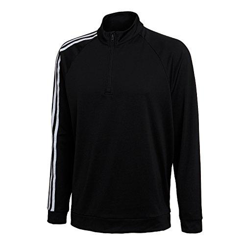 adidas Herren Jacke 3-Stripes 1/4 Zip Stein/Schwarz