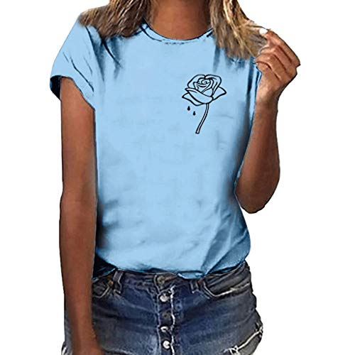 ┃BYEEEt┃ Donna Maniche Corte - Estivi Maglietta Manica Corta Donna Casual Stampa T-Shirt Sportivi Vintage Poliestere Stretch Tumblr Elegante Estiva