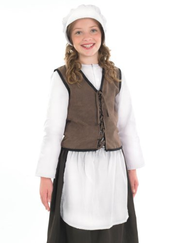 Fun Shack Child Tudor Kitchen Girl Costume - AGE 10 - 12 YRS (XL) by Fun Shack