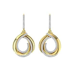 TBZ - The Original 18k (750) Yellow Gold and Diamond Stud Earrings