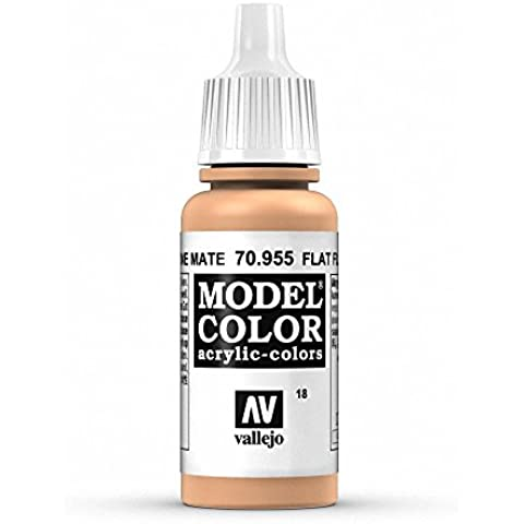 Vallejo Model Color - Vernice acrilica, tubetto da 17 ml Flat Flesh