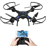 AKASO A31 Drone avec Caméra HD 1080P,Quadcopter LED,Drone FPV WiFi RC avec...