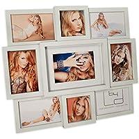 Fotogalerie Herz 49x22cm Bilderrahmen für 4 Fotos in schwarz oder weiß Galerie