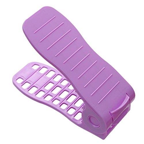 Schuh-präsentationsständer (samLIKE Mehrfarbige Präsentationsständer-Schuh-Organisator-Platzsparende Plastikregal Lagerung (D))