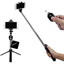 xhorizon TM Auto-fotografiado Extendible con Control Remoto de Bluetooth y Trípode, Bluetooth Auto-fotografiado de Obturador con Trípode para iPhone 7/7plus iPhone 6S/6 Plus Samsung S6 S7 Edge y otros Teléfonos Inteligente