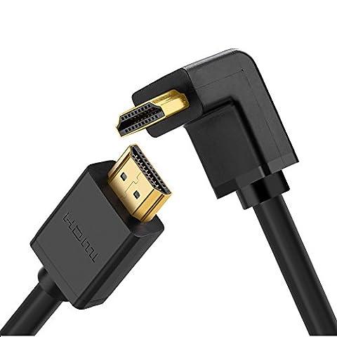 Cable Hdmi 3d 4k - UGREEN Câble HDMI 270 Degré Haute Vitesse