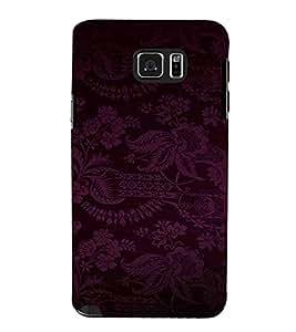 Flower, Blue, Designer Flower, Beautiful Pattern, Printed Designer Back Case Cover for Samsung Galaxy Note 5 :: Samsung Galaxy Note 5 N920G :: Samsung Galaxy Note5 N920T N920A N920I