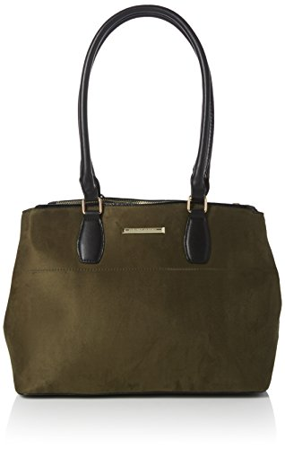 Dorothy Perkins - Double Zip, Borse Tote Donna Verde (Green)