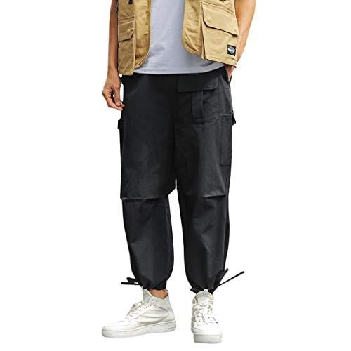 hahashop2 Herren Slim-fit Cargo Pant Regular Fit Rangerhose Outdoorhose Vintage Cargo Hose Straight Denton Chino Lose japanische Overalls für Herrenmode -