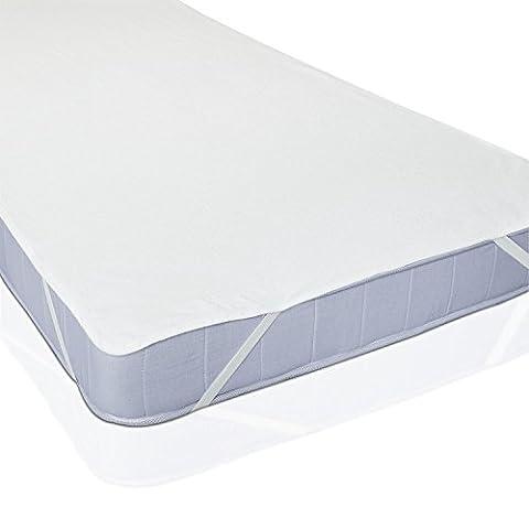 Uniento® Matratzenschoner Wasserdicht Wasserundurchlässige Matratzenauflage atmungsaktive Kopfkissenschoner in verschiedenen Größen 90x200cm baumwolle Original