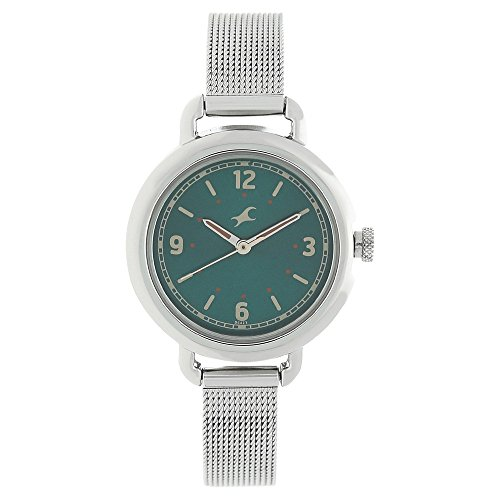 411pWI9%2BxYL - 6123SM05 Fastrack Green Girls watch