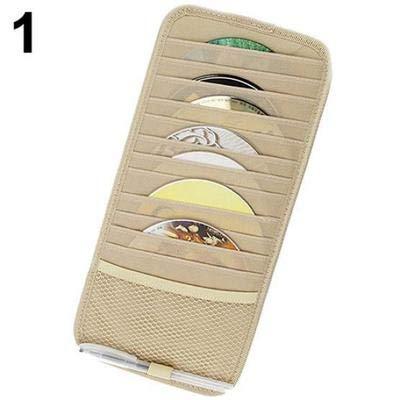 elegantstunning Auto-Auto-Visor CD DVD-Karten-Fall-Halter-Klipper-Scheiben halten Organisator-Tasche -