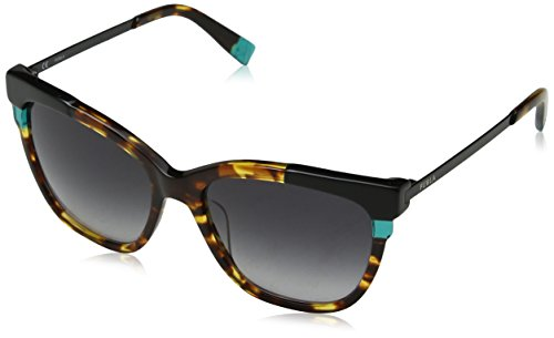 Furla eyewear, occhiali da sole donna, multicolore (shiny brown havana/yellow), 55